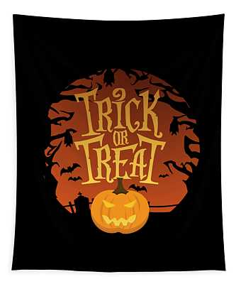 Trick Or Treat Halloween Tapestry
