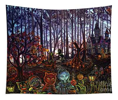 Trick Or Treat Sleepy Hollow Tapestry