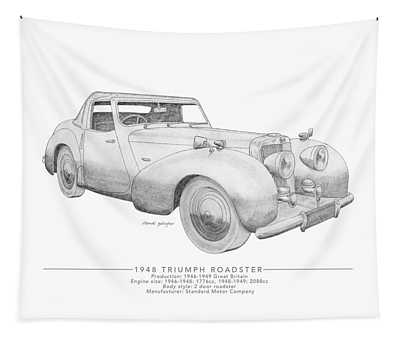 Triumph Roadster Tapestry