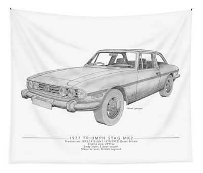 Triumph Stag Roadster Tapestry