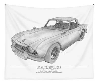 Triumph Tr4 Roadster Tapestry
