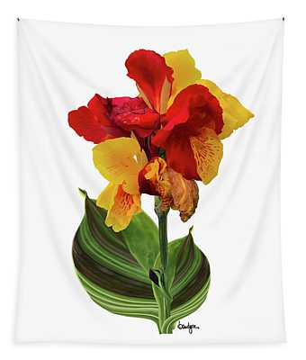 Tropical Bouquet-flower Two Tapestry