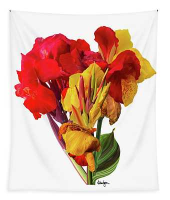 Tropical Bouquet Tapestry