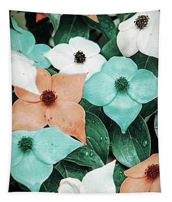 Tropical Dogwood Flowers Tapestry