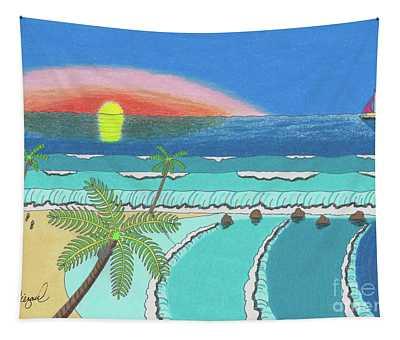Tropical Sunrise Tapestry