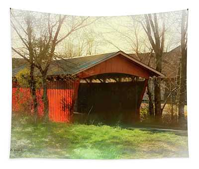 Troys Little Covered Bridge Tapestry