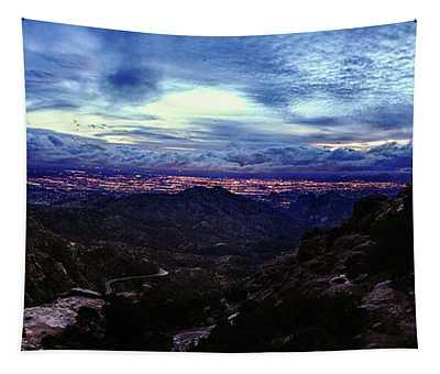 Tucson Twilight Panorama Tapestry