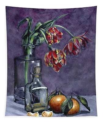 Tulips And Oranges Tapestry
