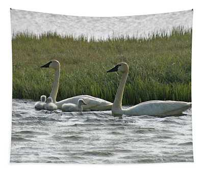 Tundra Swan - Paintography Tapestry