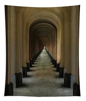 Tapestry featuring the photograph Tunnel Of Arches by Jaroslaw Blaminsky