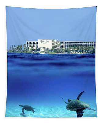 Turtle Bay Turtles Tapestry