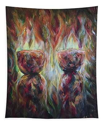 Twin Latte Stones Tapestry
