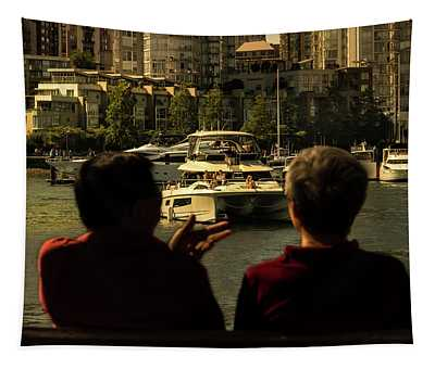 Two Friends At The Vancouver Bay Tapestry