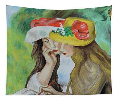 Two Girls After Renoir Tapestry