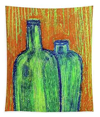 Two Green Bottles Tapestry