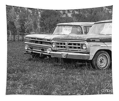 Two Old Pickup Trucks Utah Tapestry