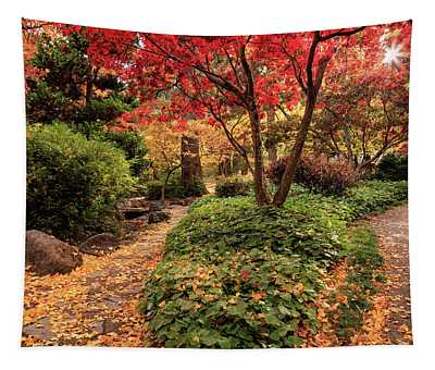 Two Paths In Lithia Park Tapestry