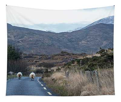 Two Sheep Head Home Ireland  Tapestry
