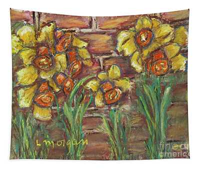 Two Toned Daffodils Tapestry