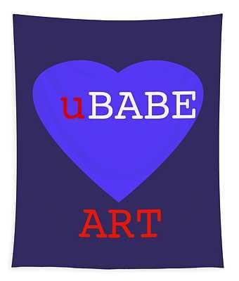 uBABE Blue Love Tapestry