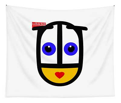 uBABE Face Tapestry