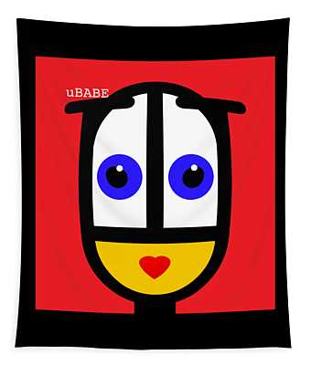 Ubabe Red Tapestry