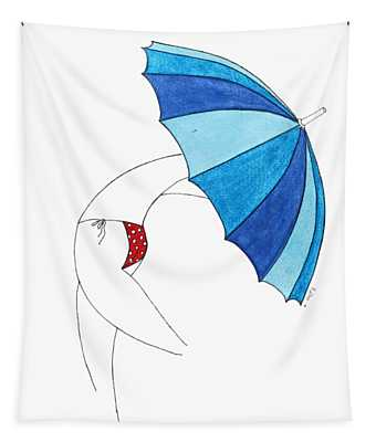 Umbrella Woman N3 Tapestry