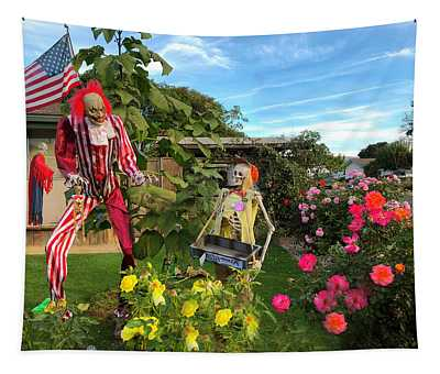 Uncle Sam Zombie  Tapestry