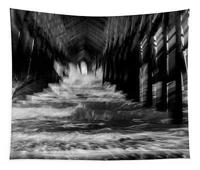 Under Pier Wave Abstract Tapestry
