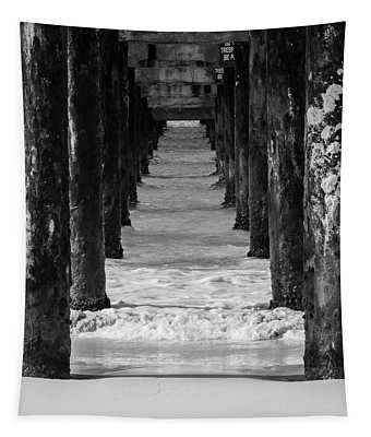 Under The Pier #2 Bw Tapestry
