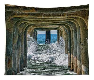 Under The Pier Manhattan Tapestry