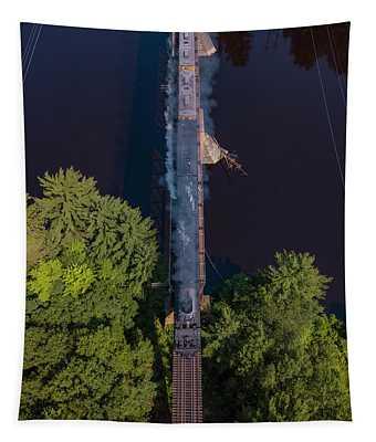 Union Pacific #4014 Big Boy Crossing A Bridge Tapestry