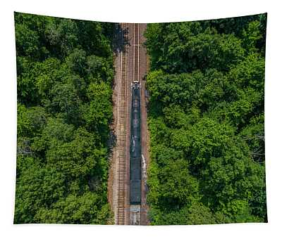 Union Pacific Big Boy Between The Trees Tapestry