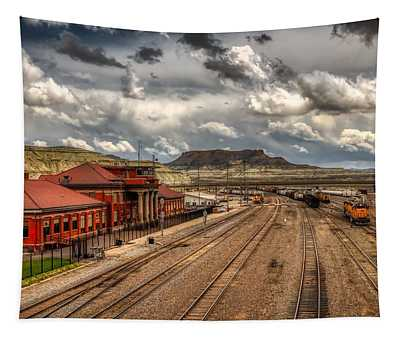 Union Pacific Railroad Freight Terminal- Green River, Wyoming Tapestry