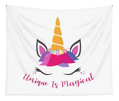 Unique Is Magical - Baby Room Nursery Art Poster Print Tapestry