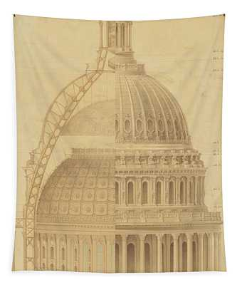 United States Capitol, Section Of Dome, 1855 Tapestry