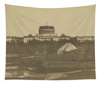 United States Capitol Under Construction Tapestry
