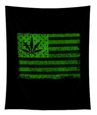 United States Of Cannabis Tapestry