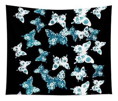 Up Blue Yonder Tapestry