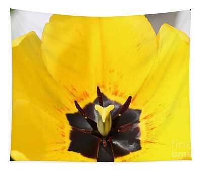 Uplifting Yellow Tulip Tapestry