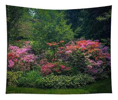 Urban Flower Garden Tapestry