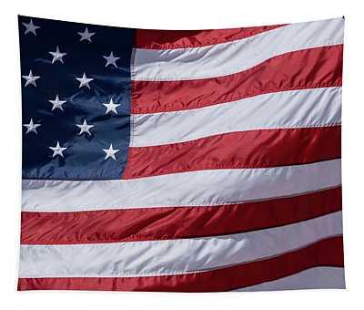Us Flag Wave Tapestry