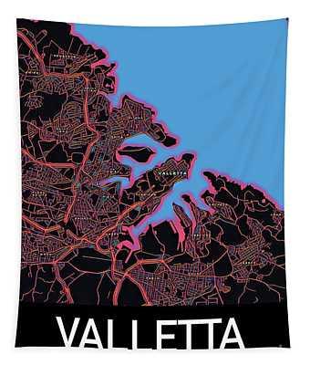 Valletta City Map Tapestry