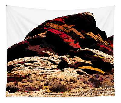 Valley Of Fire Multi Colors  Tapestry