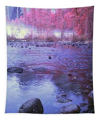 Valley River In Yosemite Tapestry
