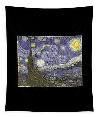 Tapestry featuring the digital art Van Goh Starry Night by Flippin Sweet Gear