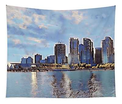 Vancouver From English Bay Tapestry by Keith Cassatt