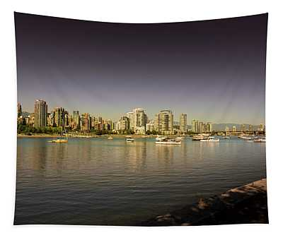 Vancouver In Magical Hours Tapestry