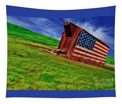 Vasco American Flag Barn Brentwood Ca Tapestry