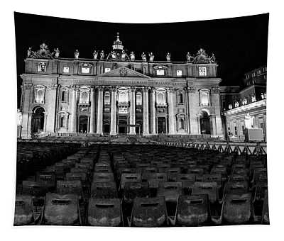 Vatican City At Night  Tapestry